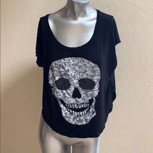 Poetry Size Large Skull T Shirt Look at the back